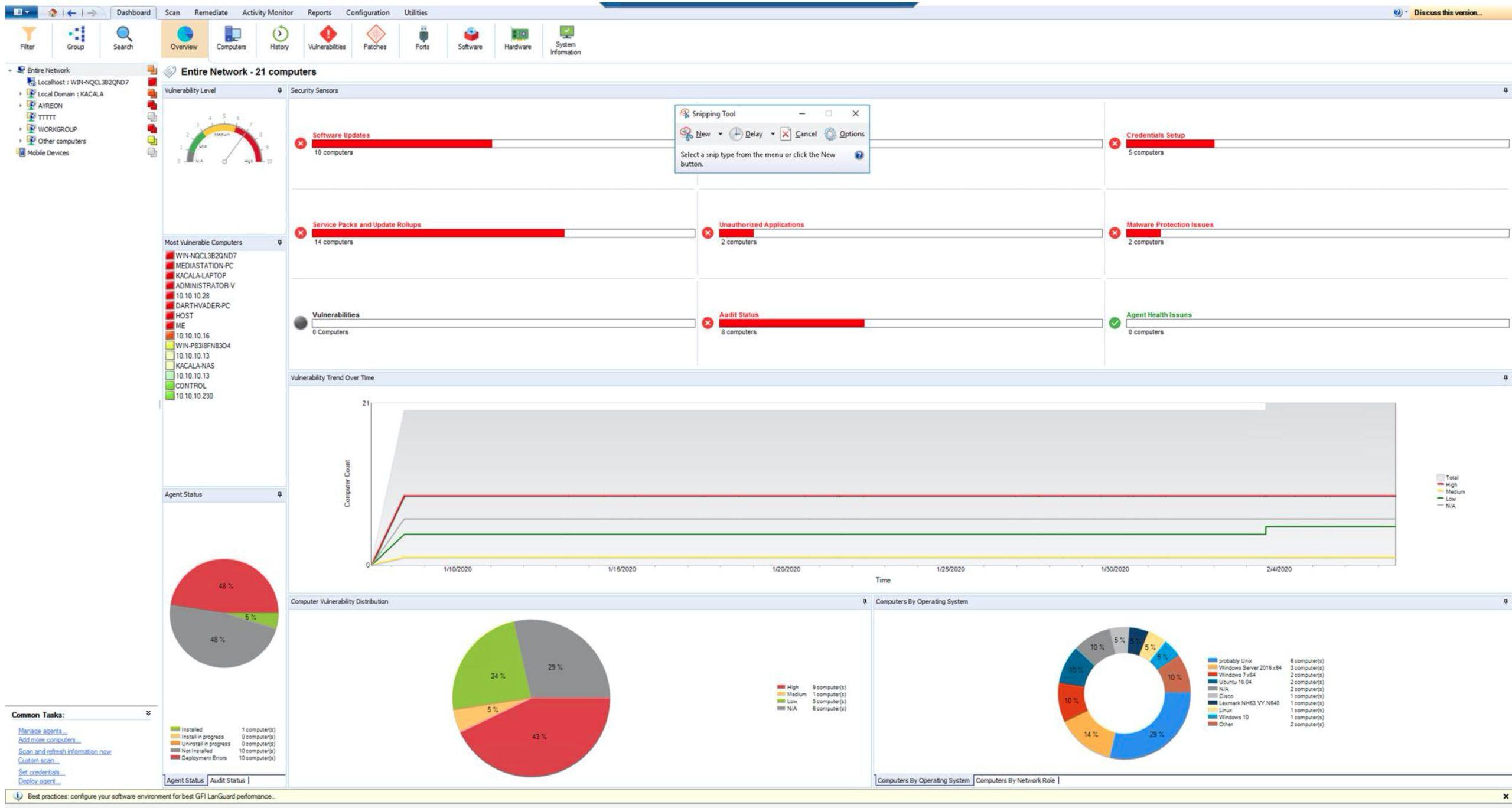 GFI LanGuard 12.5 network