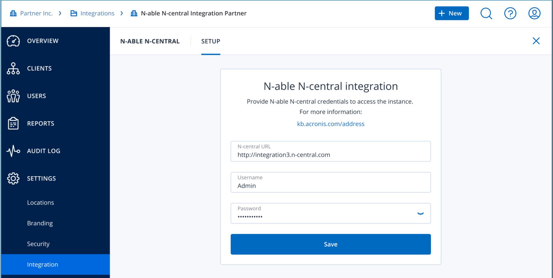 N-central integration